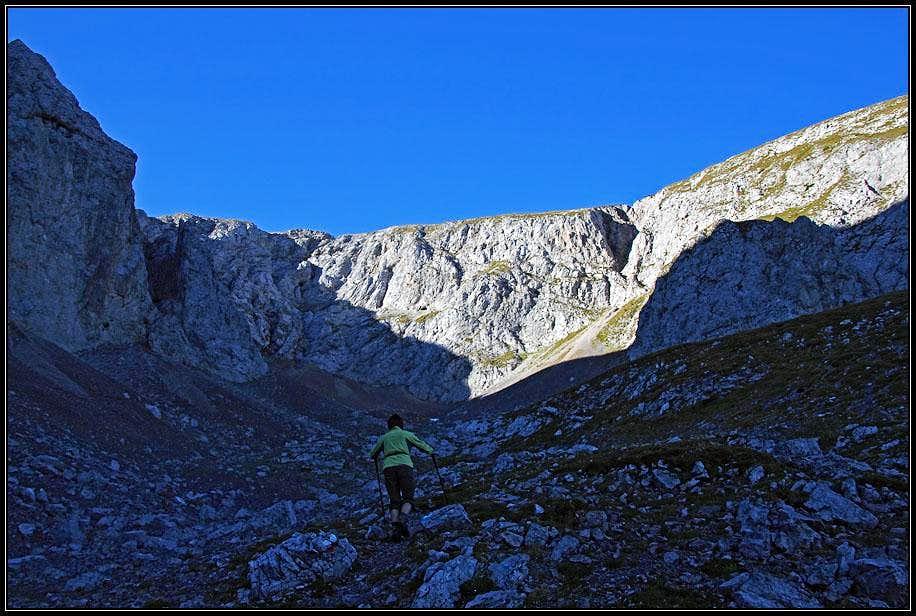 The ascent on Monte Bivera