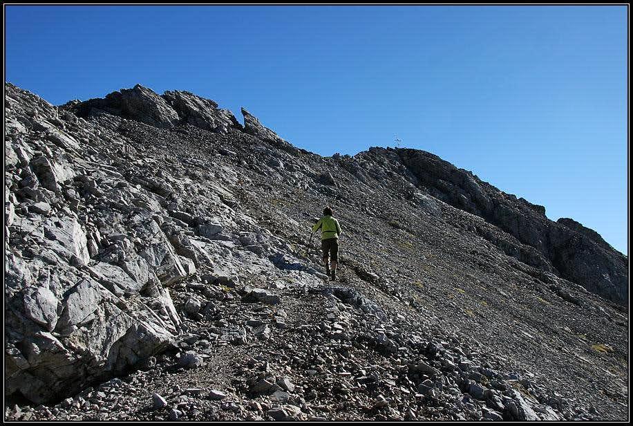 Towards the summit of Monte Bivera