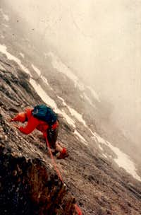 <font color=green><b>EMILIUS s</FONT> <FONT COLOR=BLUE>NORTH Face, Direct Line Route</font></b> August 1980