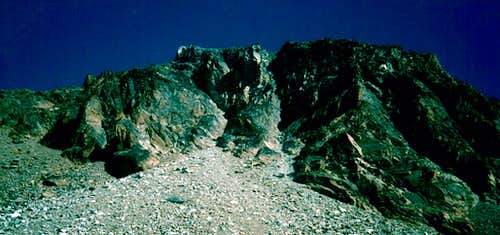 EMILIUS\'s W-SW(left) and S-SW Faces South-Southwest Wall First Ascent, 1986