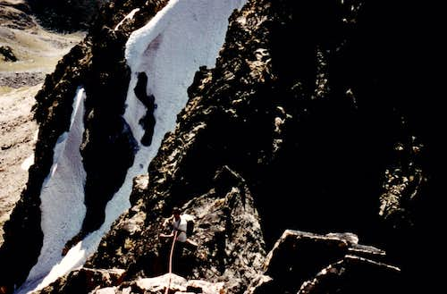 <b><font color=green>GARIN PEAK 1978</font> New and Integral Route <font color=red>SOUTH-SOUTHWEST BUTTRESS First Ascent</FONT> Near <font color=green>FLEURIE POINT</B></FONT>
