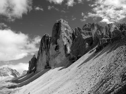 North Faces of Tre Cime di Lavaredo