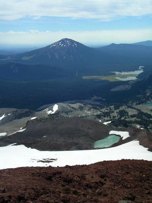 Mt. Bachelor and the volcanic...