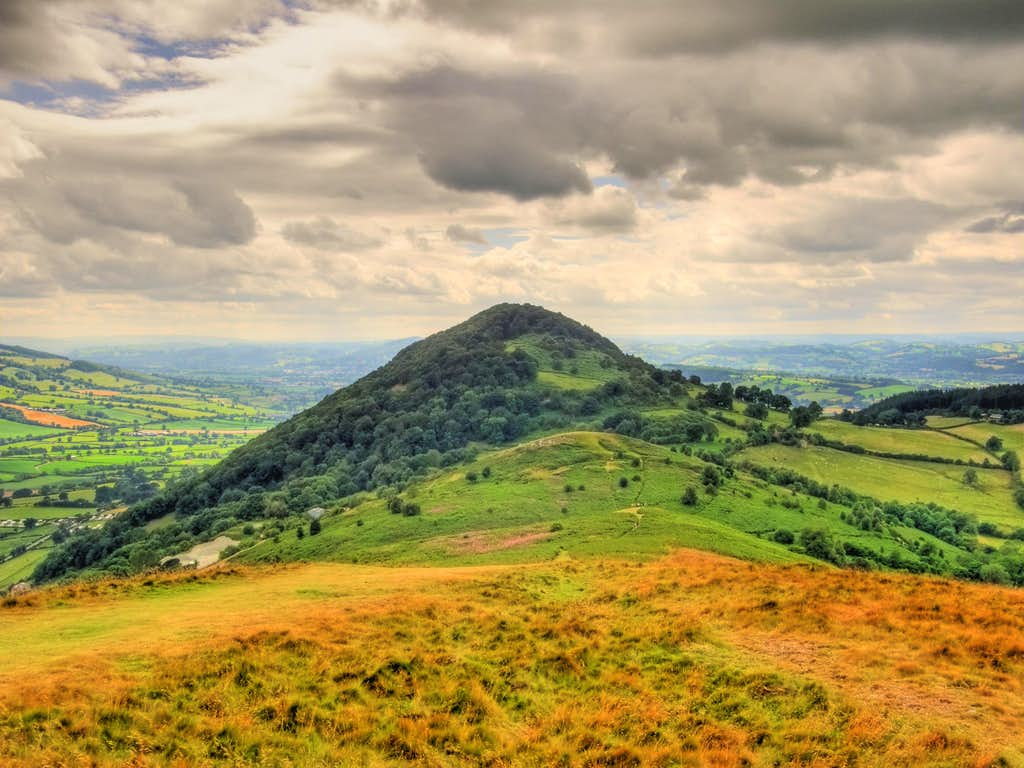 Moel Y Golfa From Middletown Hill  Photos, Diagrams