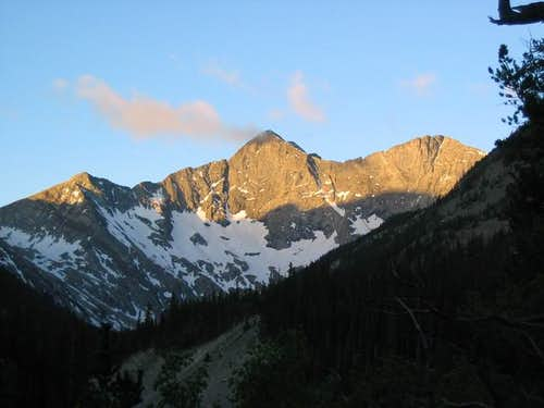 Blanca Peak and alpenglow are...