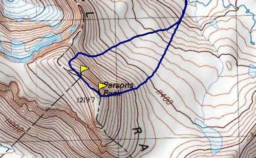 Parsons Peak's double summit