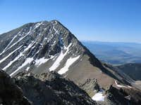 Mount Lindsey from the summit...