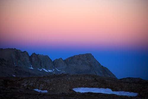 Earth Shadow Over Glacier Divide