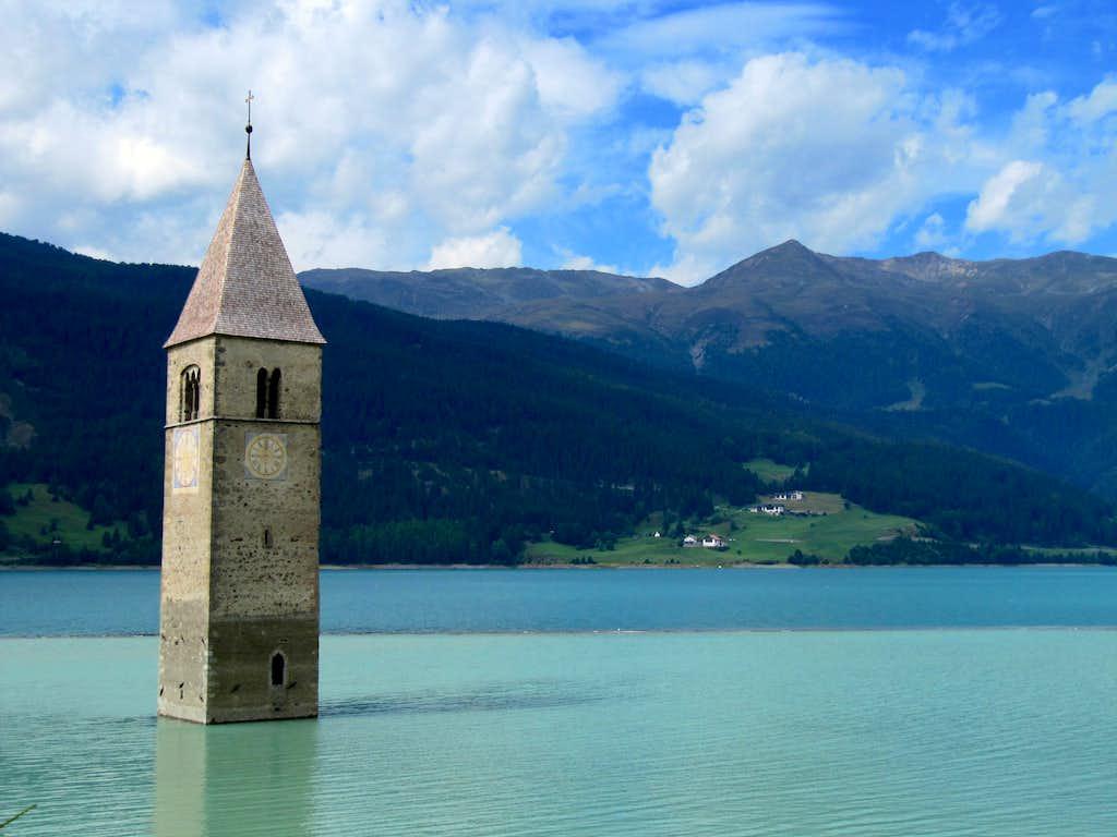 Sesvenna Group & 14th Century Church