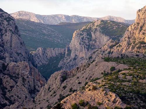 View through Velika Paklenica canyon