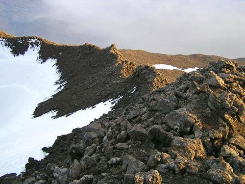 Crater rim on the south side.
