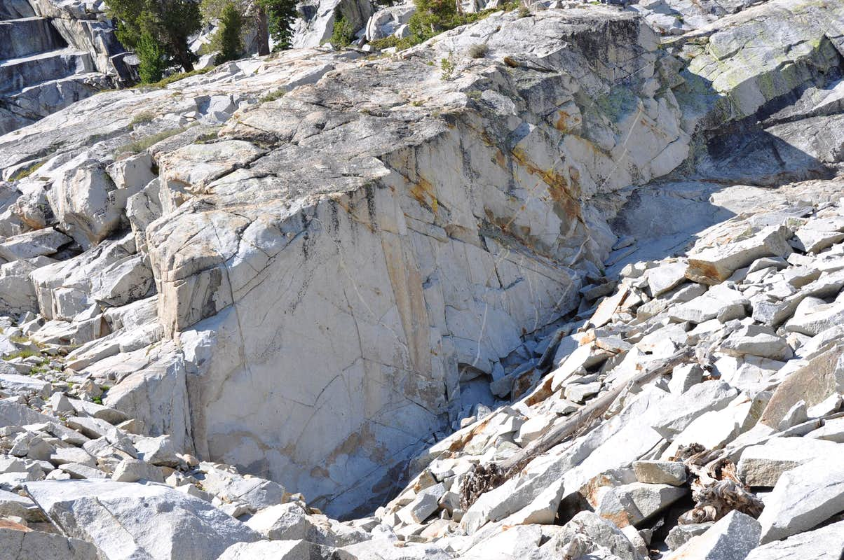 dike wall, north face, right side