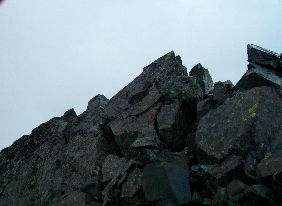 The summit rocks
