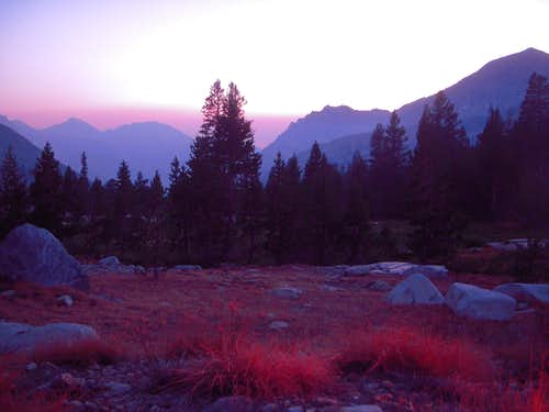 Sunset below Forester Pass