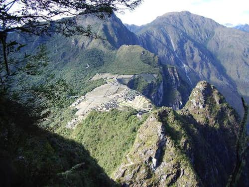 The sight of the Machu Picchu...