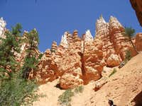 Hoodoos from Below