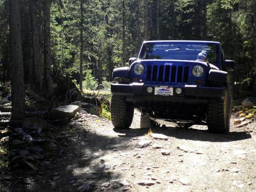 Easy section of Jeep Road