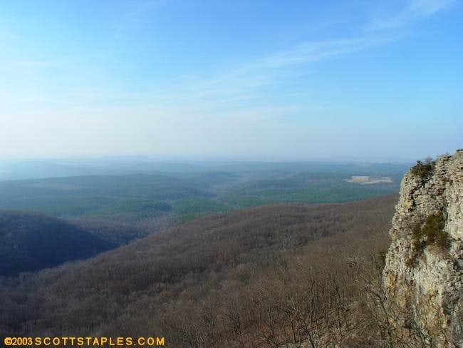 Mount Magazine rocks above...