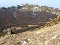 Tarnica summit in spring as seen from N (Bieszczady - Poland)