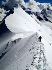 On East ridge of Breithorn