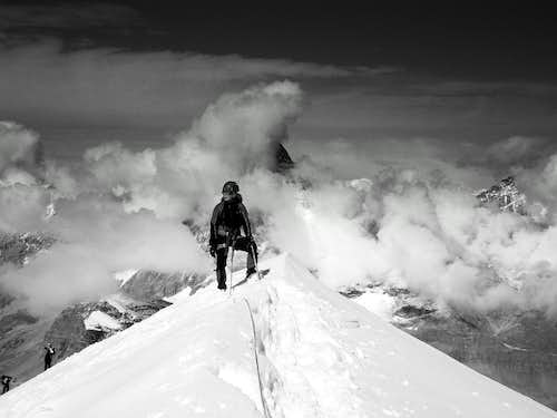On West ridge of Breithorn