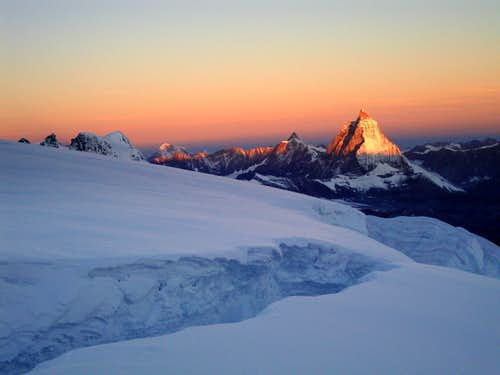 Panorama from Monte Rosagletscher