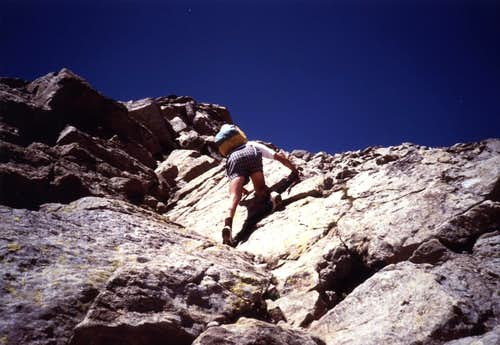 First Ascent on MOUNT EMILIUS  S-SW Face June 1994