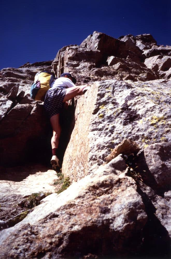 <b>Climbing in S-SW Ribbing to <font color=green>Emilius</font> <font color=brown>on 1994</font></b>