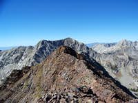 Red Baldy Summit, West Highpoint, then White Baldy, the Pfiefferhorn to the right