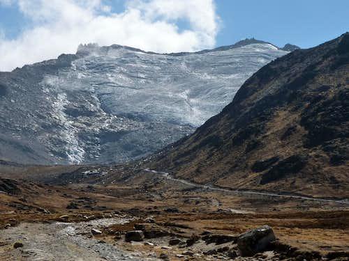 Wila Llojeta glacier