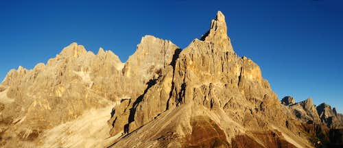 Pale di San Martino seen from Punta Rolle.