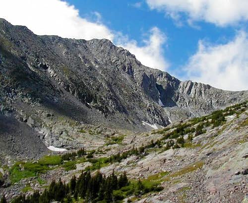 Bushnell Peak as seen from...