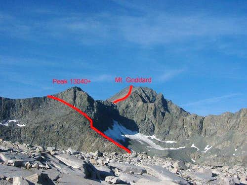Starr's Route on Mt. Goddard,...
