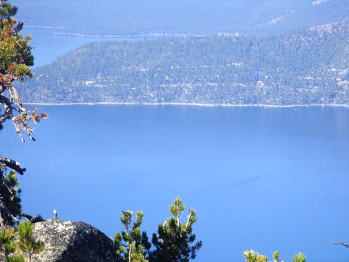 Looking down to Lake Tahoe
