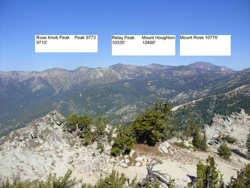 Mount Rose Wilderness from Peak 8703.