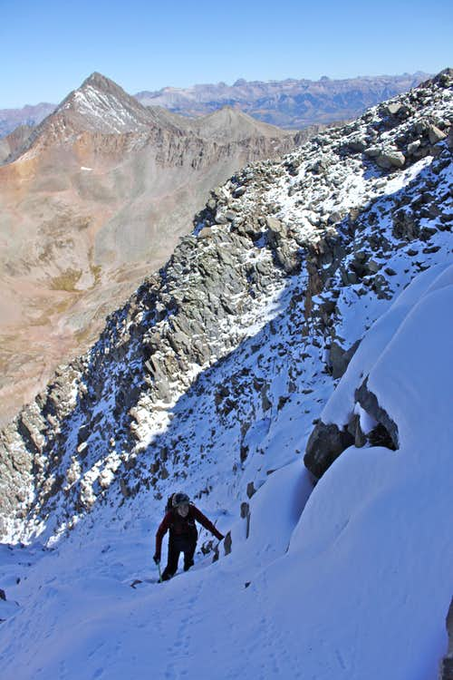 Below the headwall