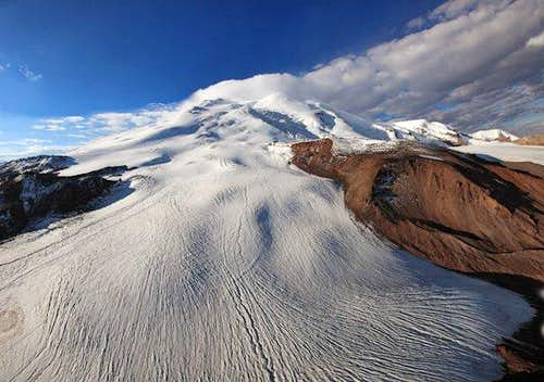 East Elbrus, seen from helicopter