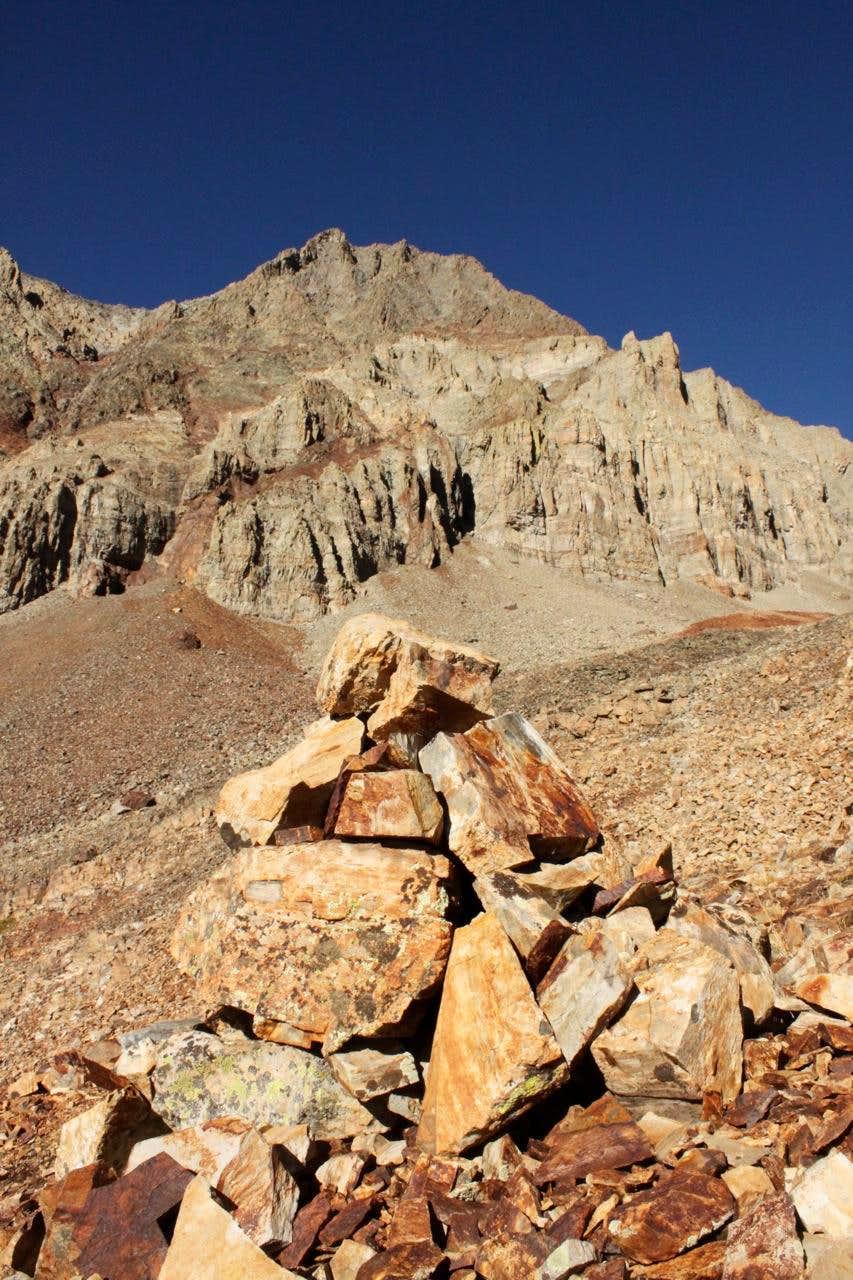 below southern slopes