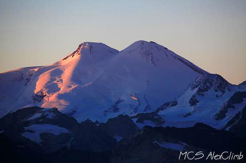 Elbrus sunset view from Layla