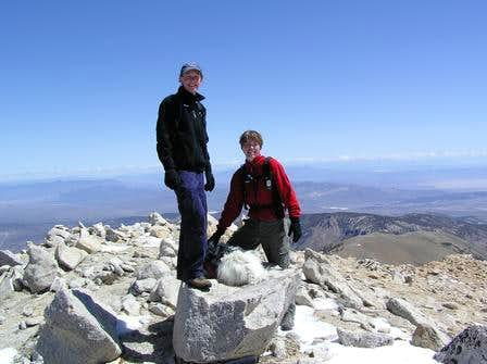 Summit of Boundary Peak, NV...