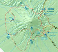 Mt Egmont/Taranaki Around the Mountain Circuit Map