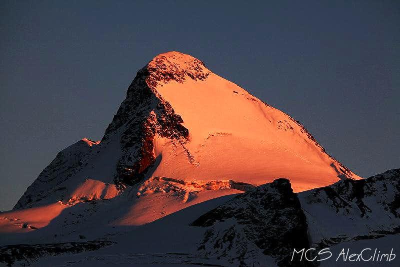 Layla summit burning at sunset