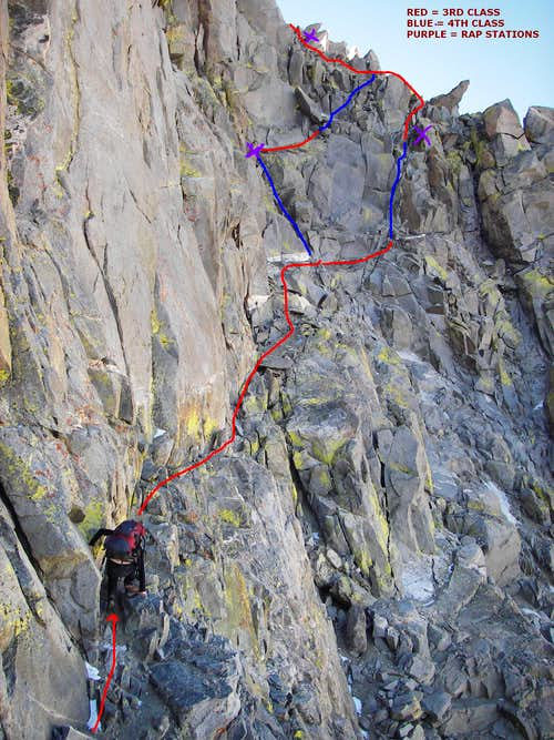The traverse from Apex notch to the Sill/Polemonium  Ridgeline