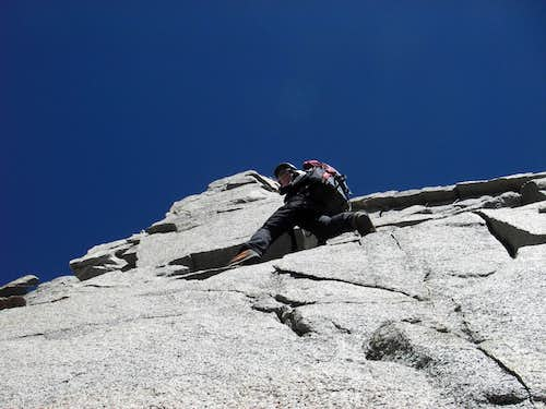 The traverse from Polemonium\'s false summit
