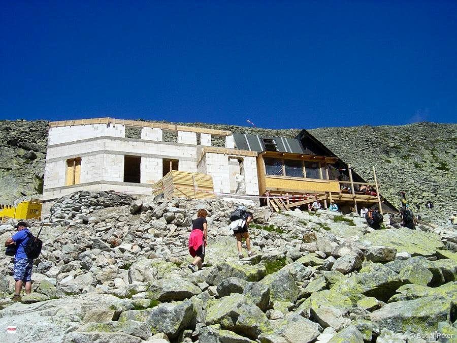 Chata pod Rysmi - under reconstruction