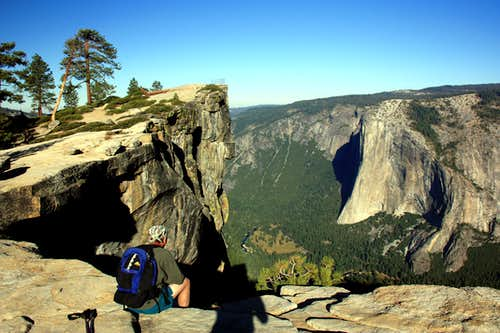 Hiker at Taft Point