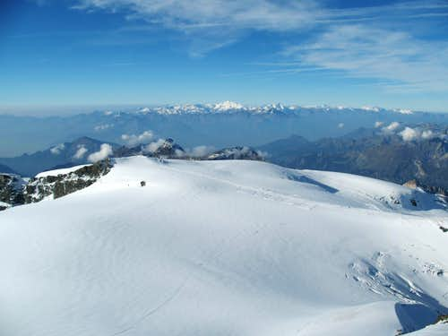 view from the top towards Gran Paradiso