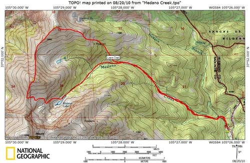 Medano Creek Route Map