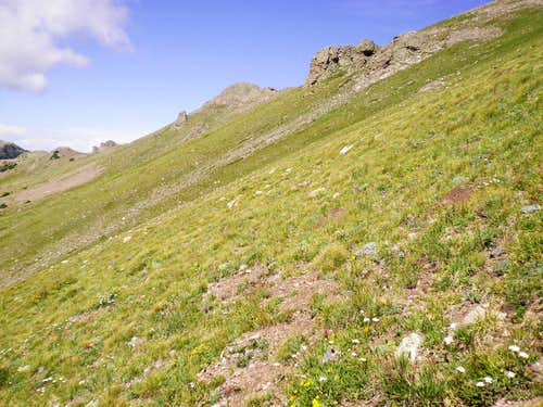 Steep Tundra on southern slopes of UN 12883