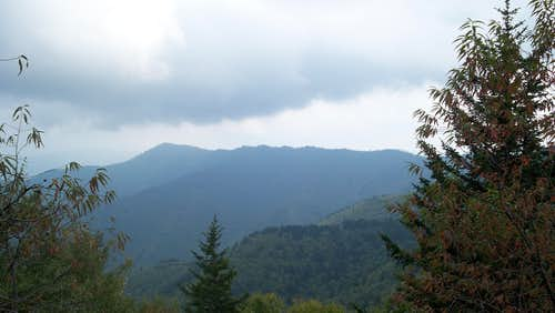 Storm over Luftee Knob and the Thermo Knob ridge